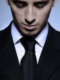 Portrait of succesful  business man in formal suit and black tie