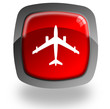 Airplain glossy icon
