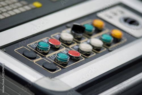 Control panel on industrial machine