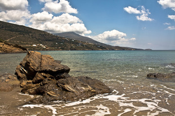 Andros beach - clouds