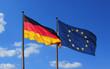 Leinwanddruck Bild - deutsch_europa_flagge