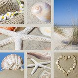 Collage summer on the beach - Fine Art prints