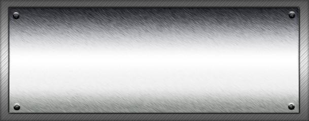 Metallschild