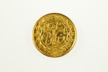 Iran gold coin of Shah Nasir-Al-Din, reverse