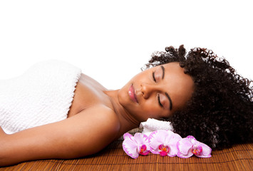 Beauty relaxation at spa