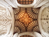 Detail in the ceiling of Winchester cathedral