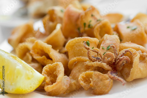 Traditional Italian Fried Calamari