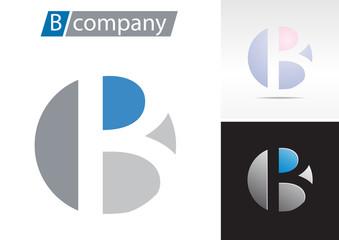 Logo spherical letter B # Vector