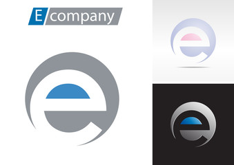 Logo spherical letter E # Vector