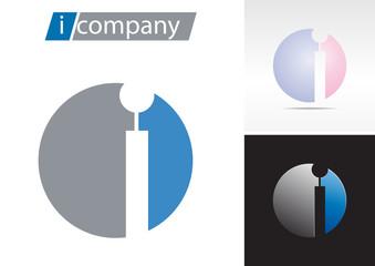 Logo spherical letter I # Vector