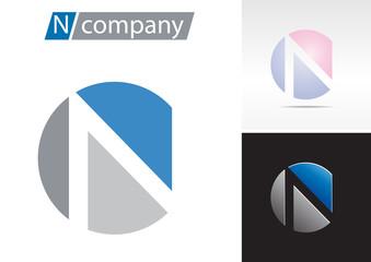 Logo spherical letter N # Vector