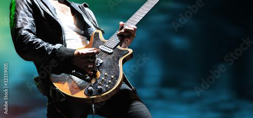 Leinwanddruck Bild gitarre musik