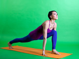 woman prepare for happy color yoga
