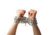 two chained fists
