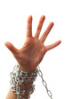chained hand