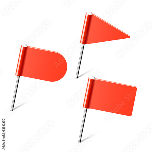 Red flag pins