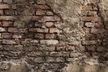 alte Wand - Hintergrund - Backstein