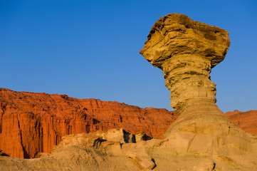 The Mushroom, sandstone formation in Ischigualasto