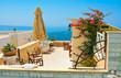 Magic terrace in Santorini