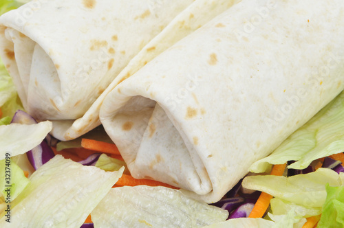 burritos and salad