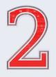 chiffre 2 sur fond blanc