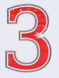 chiffre 3 sur fond blanc