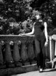 young pretty woman portrait. black and white film stylization
