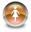 "Orange Glossy Pictogram ""Ladies Restroom"""