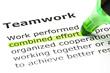 'Combined effort' highlighted, under 'Teamwork'