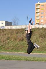 High jump on inline skates