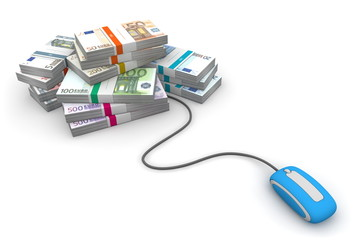 Online Cash - Blue Mouse and Euro Cash Packets