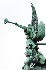 Angel with Trumpet at the Berliner Dom (Cathedral), Berlin, Germ