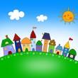 Leinwandbild Motiv Illustration for children