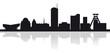 Skyline der Stadt Essen (Silhouette)