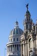 Havana landmarks, Capitolio and Great Theater.