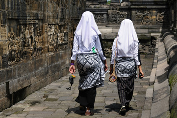 Indonesia, Java. Borobodur