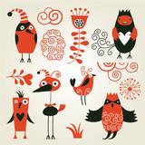 Fototapety set of cartoon animals