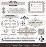 Decorative design elements, page & book decors