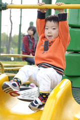 baby play in a children's playground