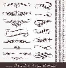 Vector decorative calligraphic design elements & page decor