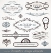 Decorative calligraphic design elements, page & book decor - 32383852