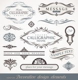 Decorative calligraphic design elements, page & book decor
