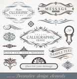 Decorative calligraphic design elements, page & book decor