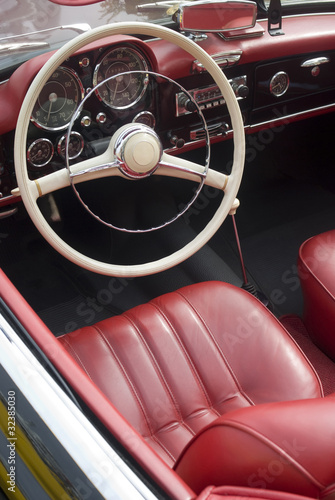 Interior of an old cabriolet