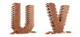 Fototapety 3D font build out of bricks based on the OpenSans font