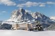 Leinwandbild Motiv Langkofel Berg der Dolomiten