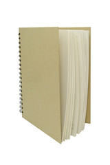 Recycle Notebook brown vertical isolated white background
