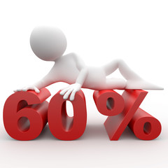 Man lying on the 60 percent