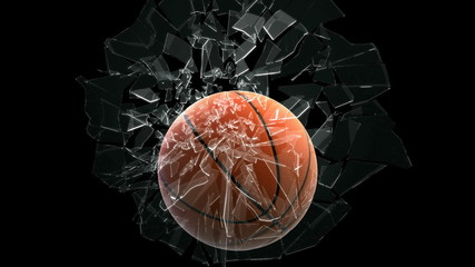 Basket ball breaking window