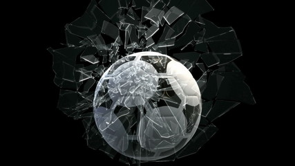 Soccer ball breaking window